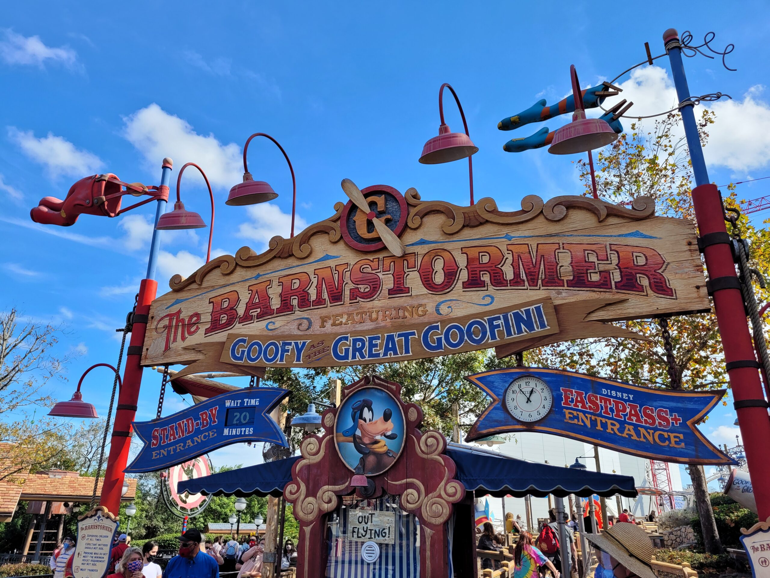 Entrance to the Barnstormer at Disney World