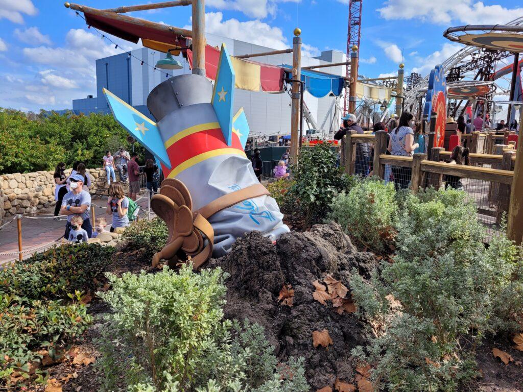 The Barnstormer Rollercoaster at Disney World