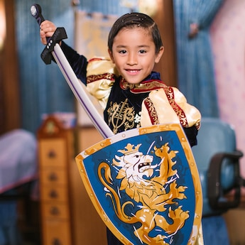 The Deluxe Knight Package Offers Little Princes A Sword & Shield