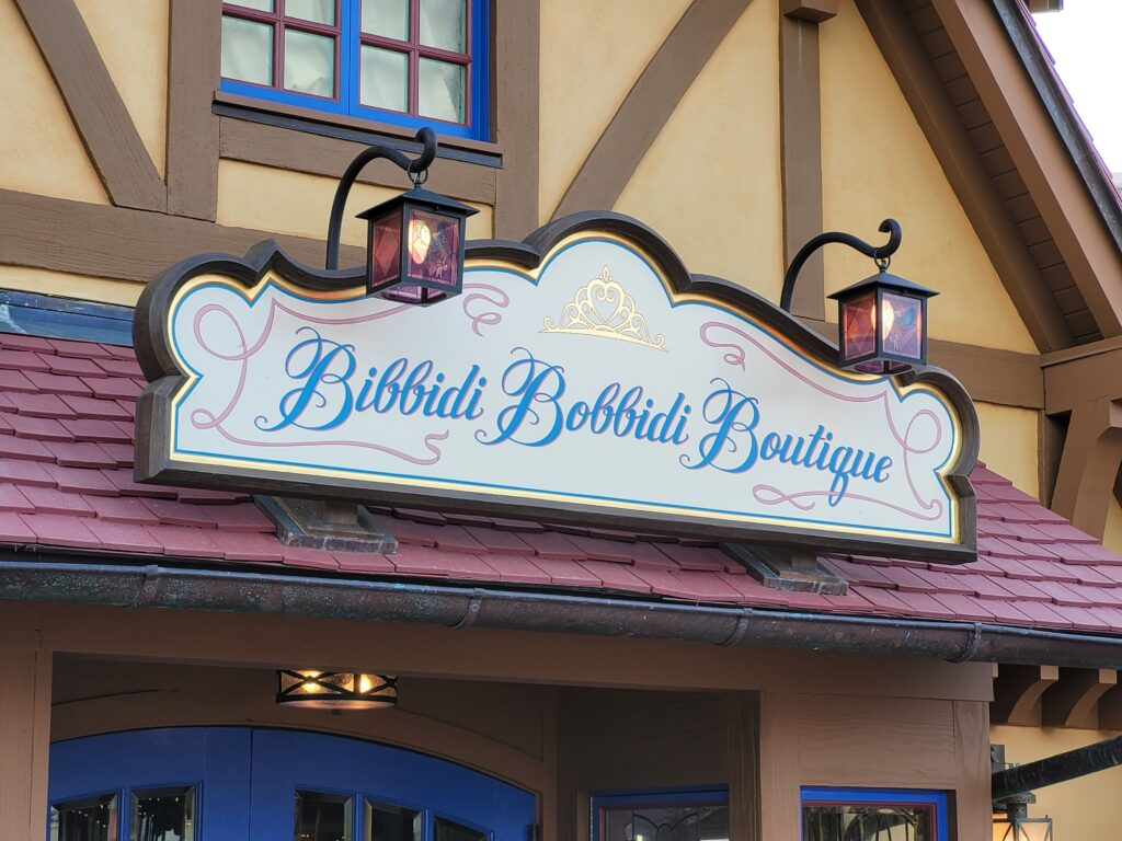 Bibbidi Bobbidi Boutique Sign