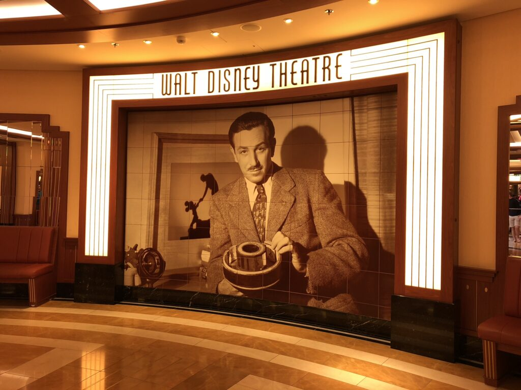 Disney Cruise Ships offer broadway style shows on every sailing.
