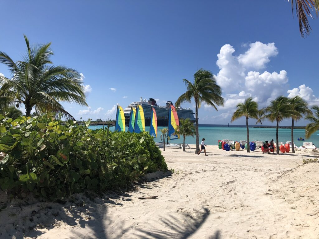 Castaway Cay, Disney's private island is visited by Disney Cruise ships sailing the Caribbean.