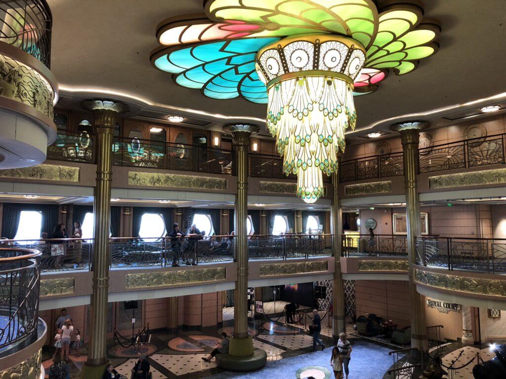 Disney Cruise Line Ships beautiful decor.