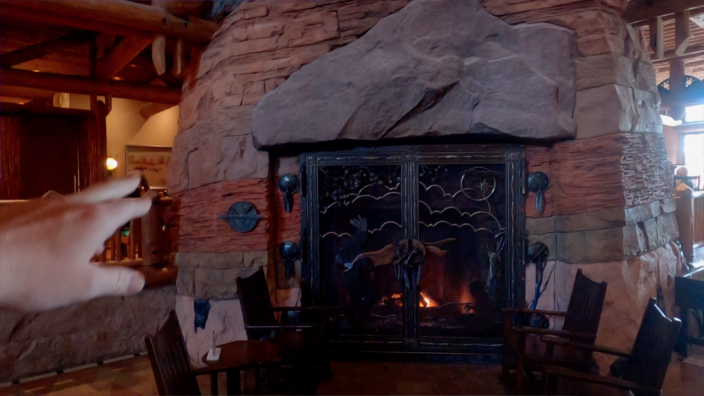 Grand Canyon Inspired Fireplace - Wilderness Lodge