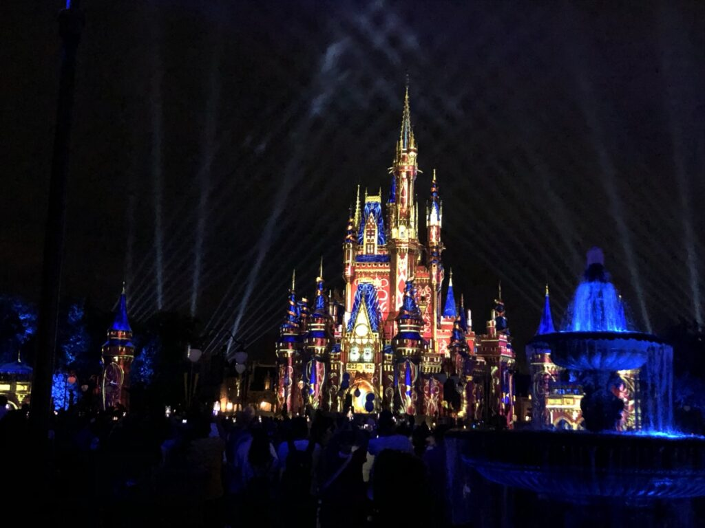 Cinderella Castle Projections Disney World