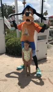 Goofy with a guest at Disney Yacht Club Resort