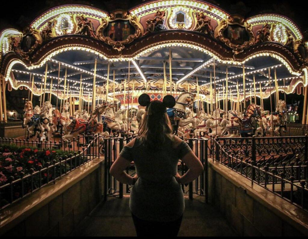 Prince Charming Carousel at night - Disney Magic Kingdom