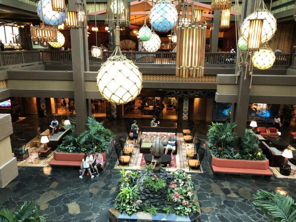 Lobby of Disney's Polynesian Resort