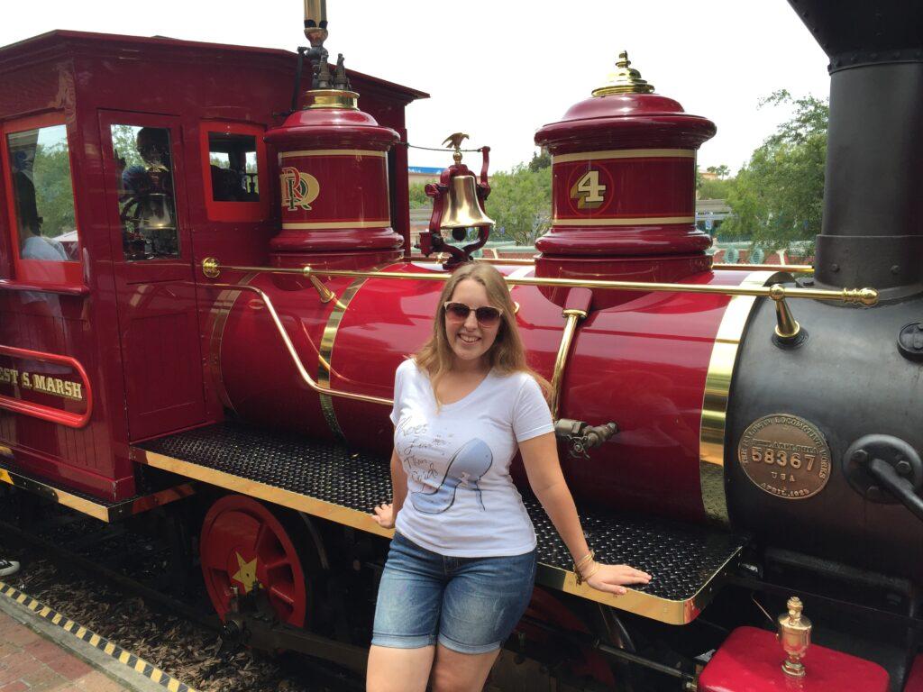 The Disneyland Railroad in California