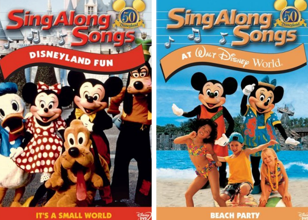 Mickey's Fun Songs VHS tapes from 1990s