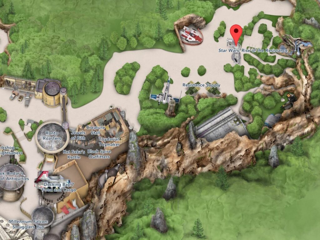 Where to Find Star Wars: Rise Of The Resistance in Hollywood Studios