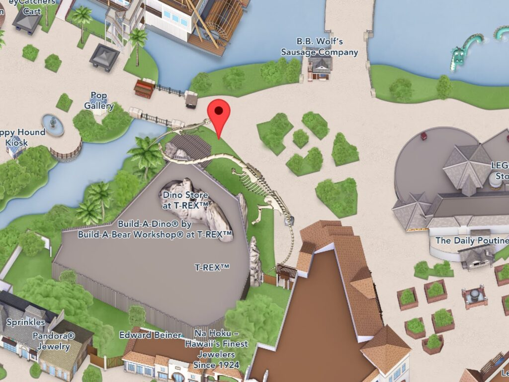 Where to Find T-Rex at Disney Springs