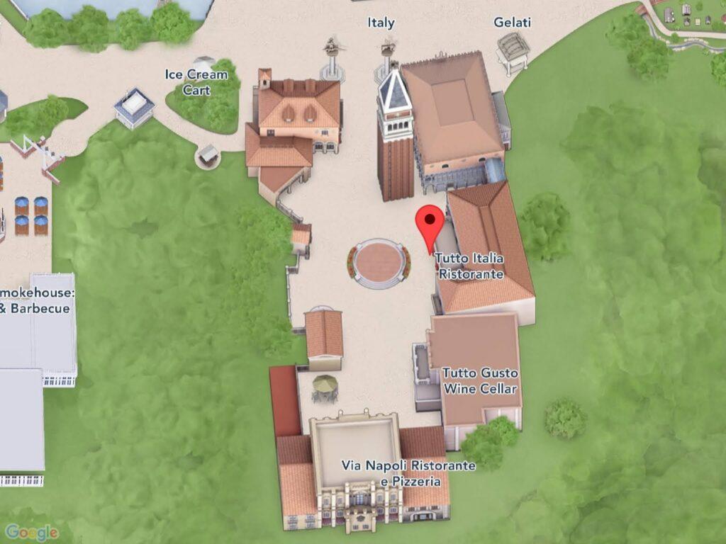 Where to Find Tutto Italia Ristorante at Epcot