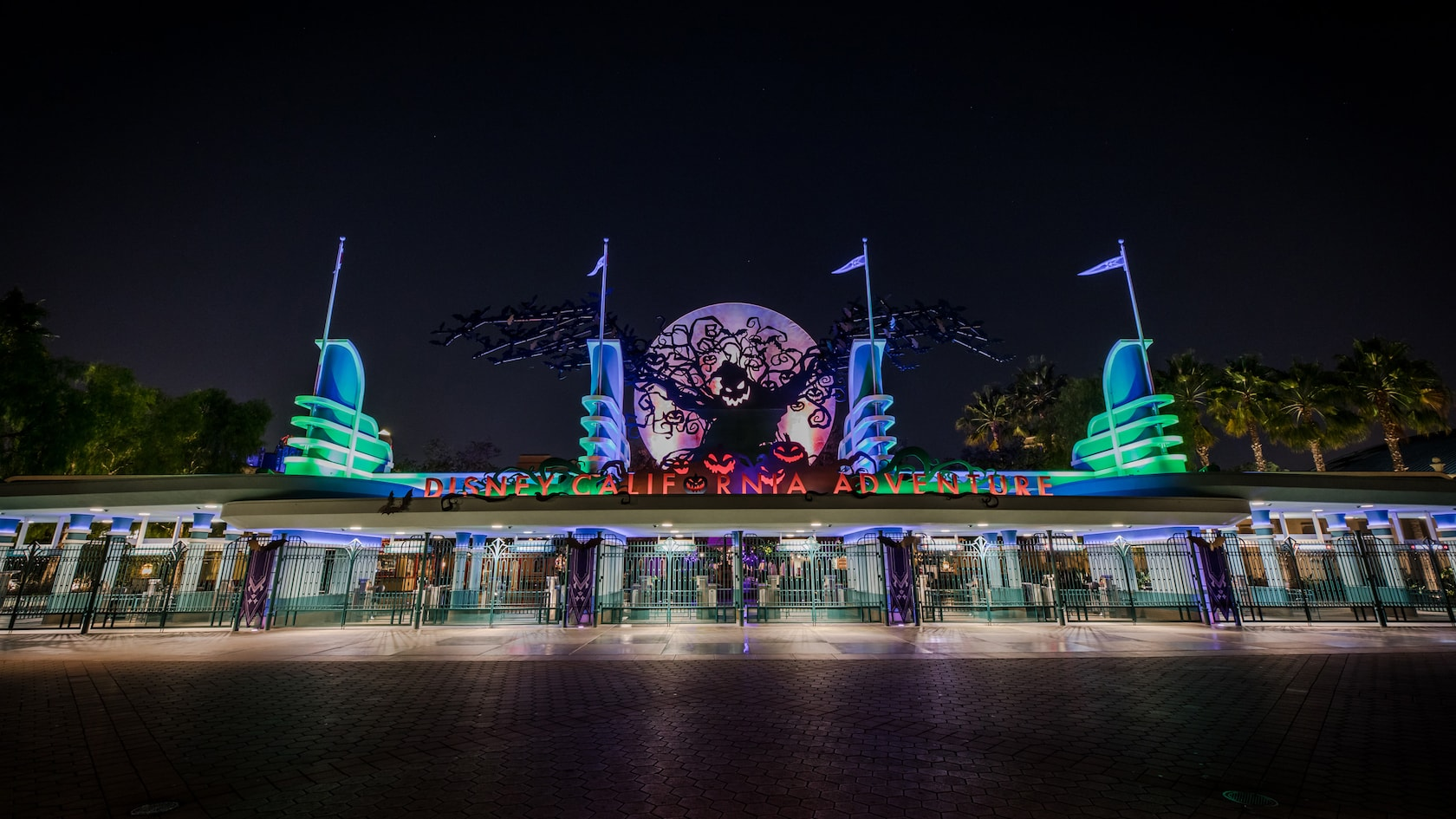 Entrance to California Adventure during Oogie Boogie Bash