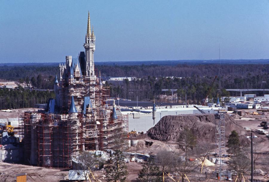 Disney Magic Kingdom Cinderella Castle under construction 1971