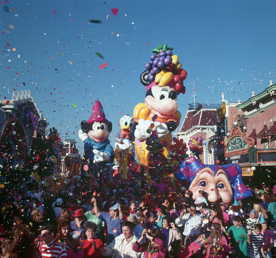 Disneyland Park parades in the the 1990s