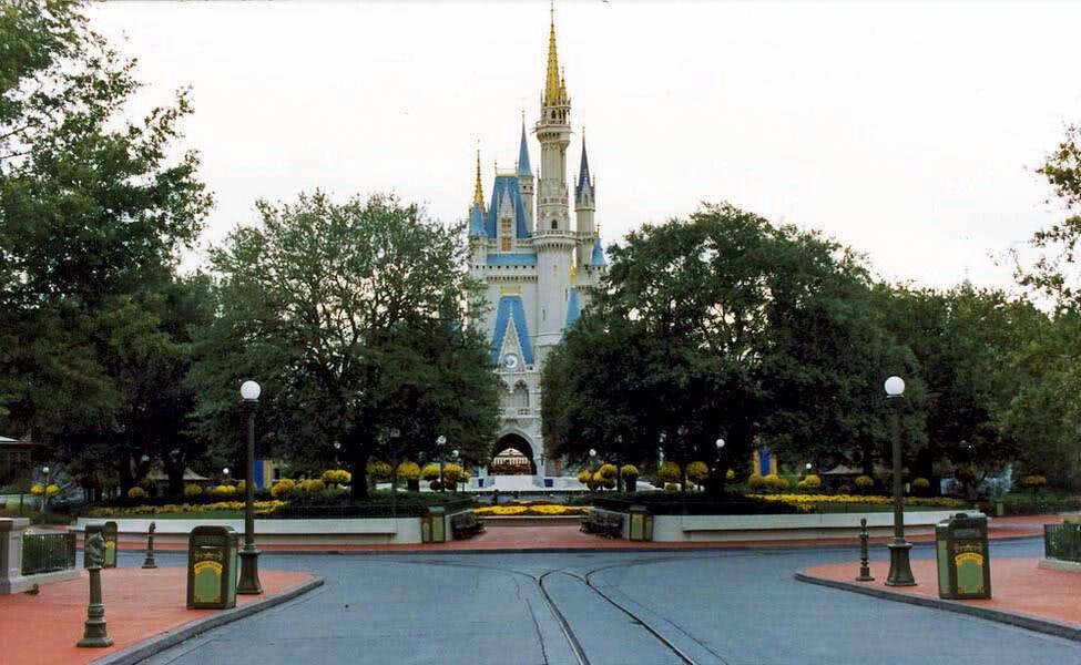 The hub in front of Disney Cinderella Castle