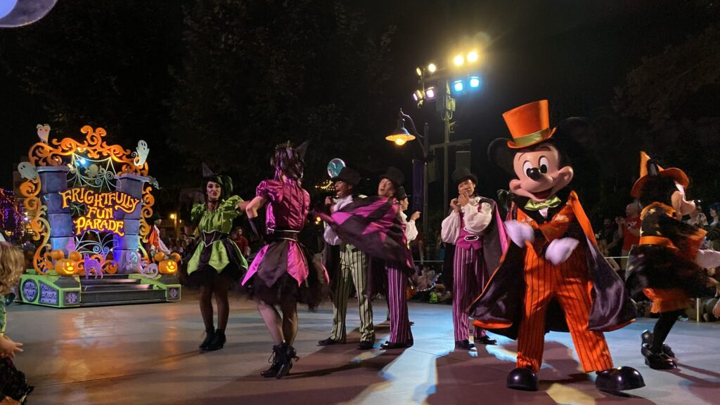 Halloween themed parade at Oogie Boogie Bash