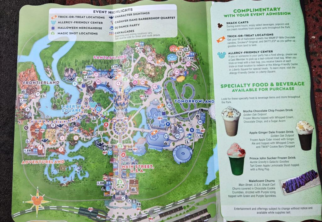 Boo Bash 2021 Map Disney Magic Kingdom