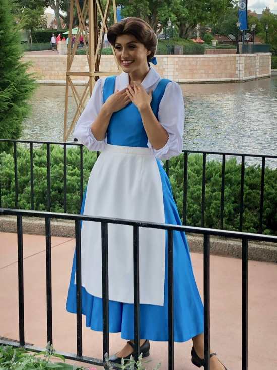 Belle character meet and greet in Epcot