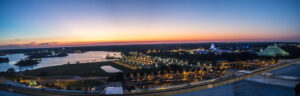 View from California Grill at sunset, Disney World