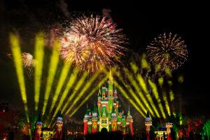 Holiday Fireworks In Magic Kingdom