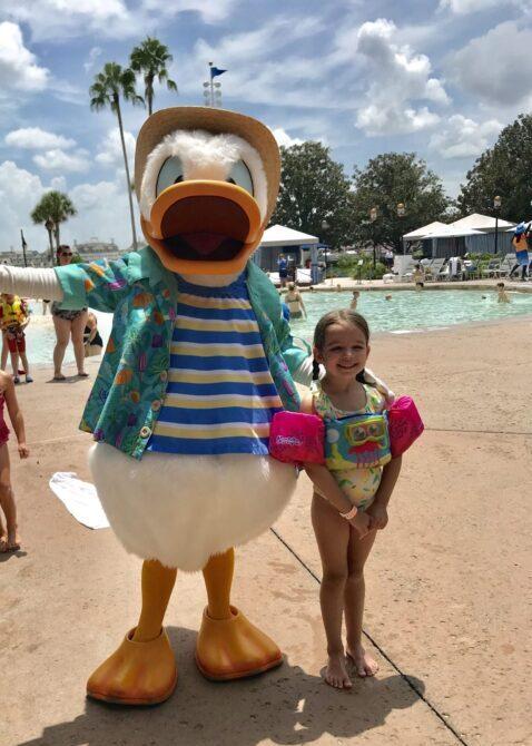 Donald Duck at Disney Deluxe Resort