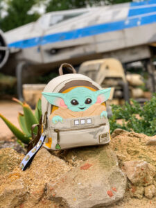 The Child in Galaxy's Edge backpack - Disney World