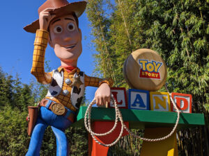 Woody statue at Toy Story Land - Disney's Hollywood Studios