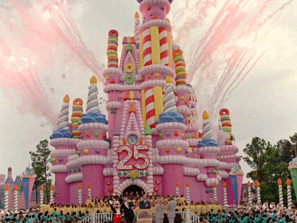 Magic Kingdom 25th Anniversary Birthday Cake Castle