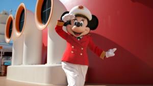 Captain Minnie on Disney Cruise Ship