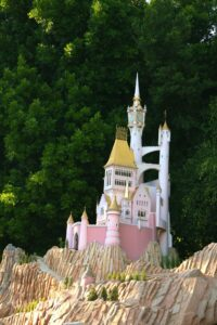 Mini castle on Storybook Land Canals