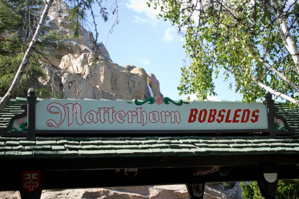 Matterhorn Bobsled entrance, Disneyland Park, California