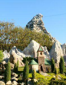 View of Matterhorn from Storybook Land Canals