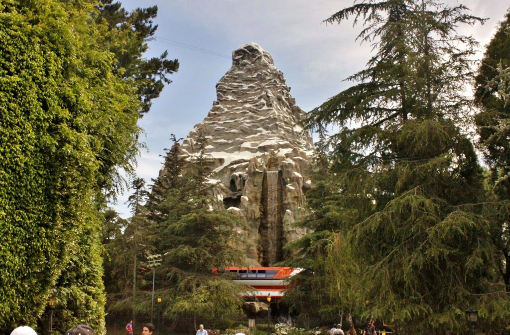 View of Matterhorn Bobsleds at Disneyland, CA