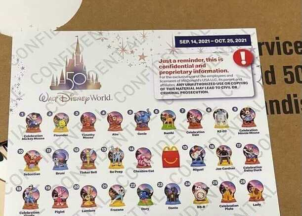 Disney 50th Anniversary Toys Coming To McDonalds Happy Meals
