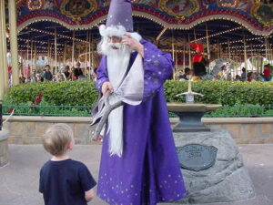 Merlin in the Sword and the Stone Ceremony