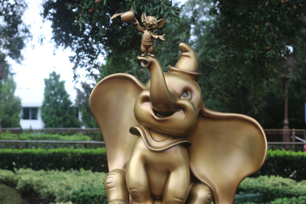 Dumbo statue at Walt Disney World 50th Anniversary