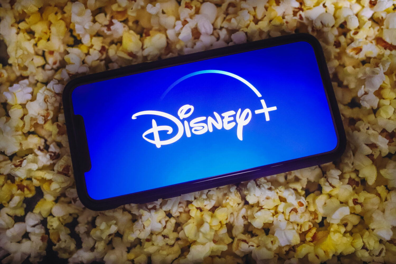 Disney Plus Logo in popcorn