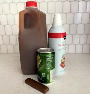 Ingredients to make Disney Apple Ginger Dale drink