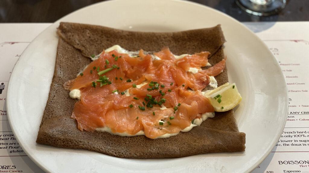 Salmon crepe at La Crêperie de Paris