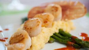 Shrimp and grits at Olivia's Cafe