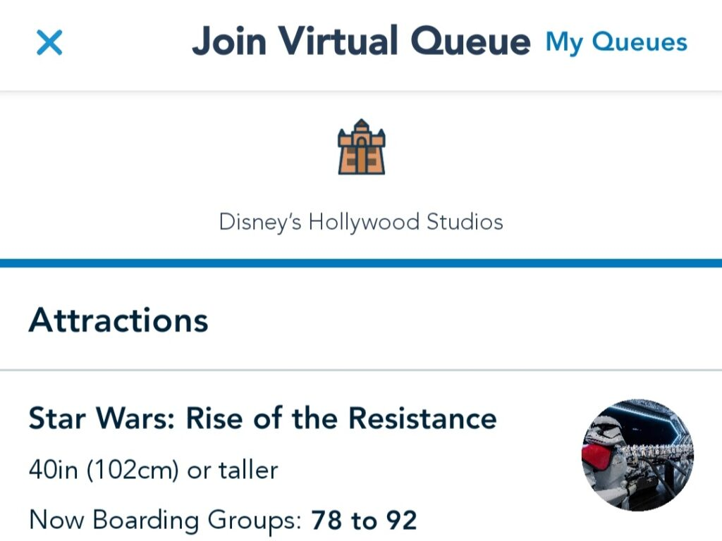 Rise of the Resistance Updated Virtual Queue