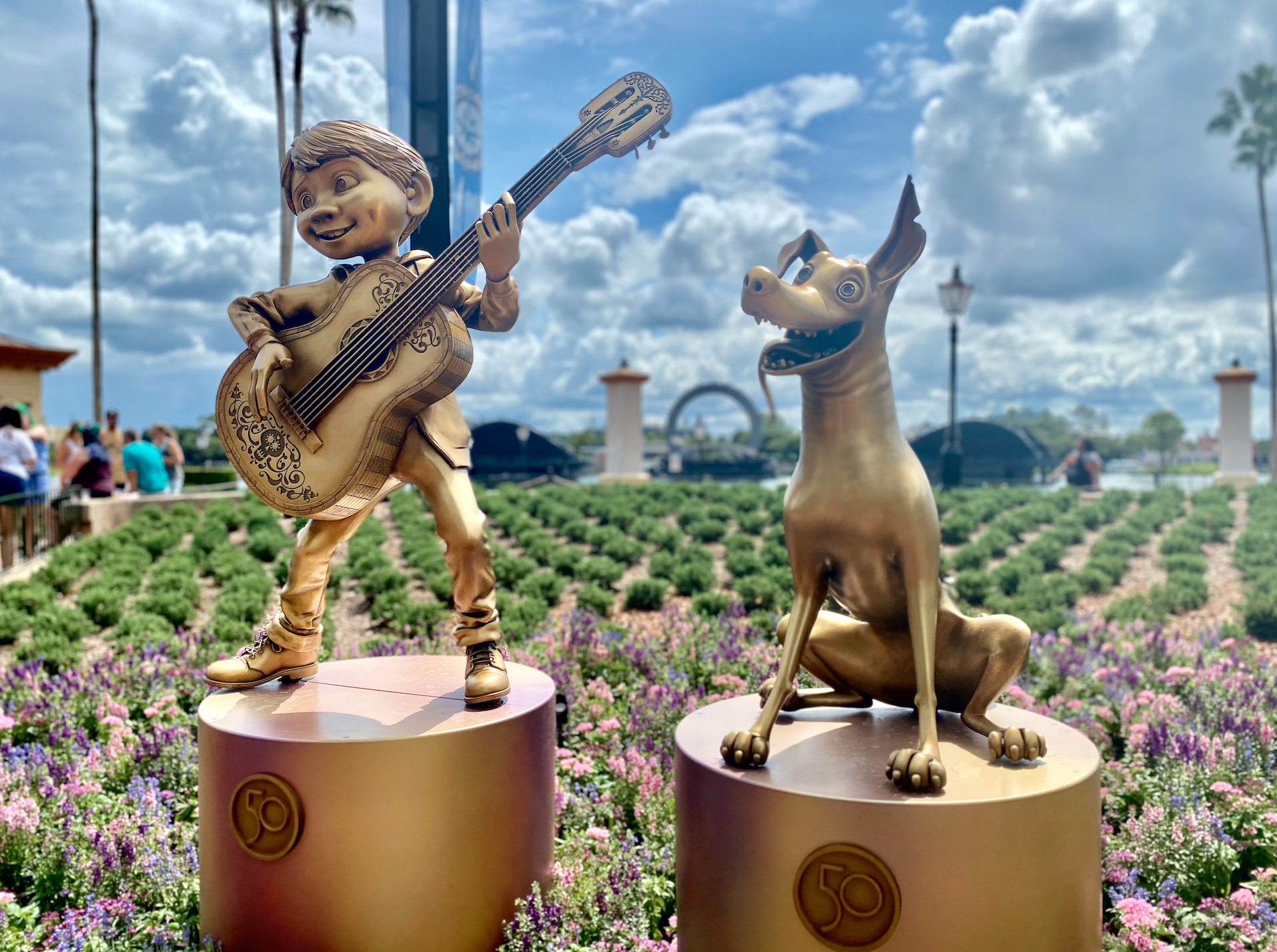 Coco Statue at Walt Disney World