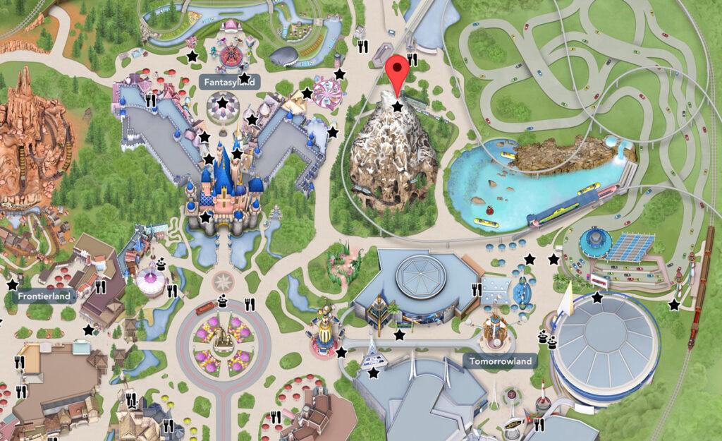 Matterhorn Bobsleds Location Map