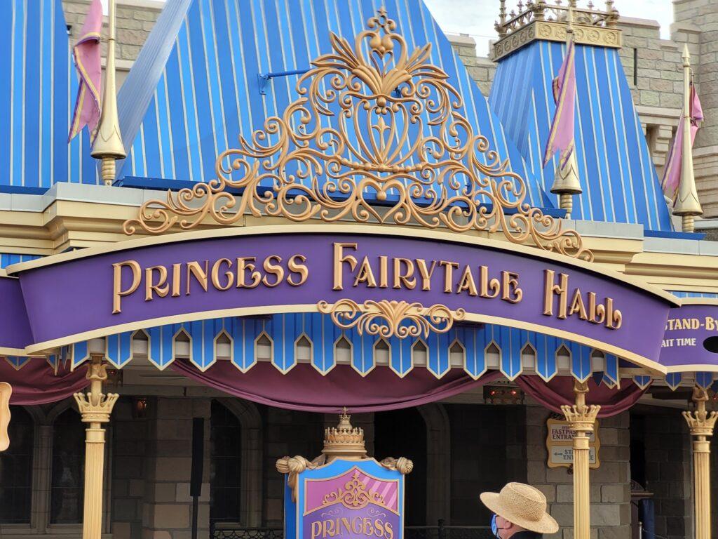 Princess Fairytale Hall in Magic Kingdom